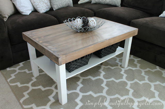 DIY IKEA table makeover from Simply Beautiful By Angela