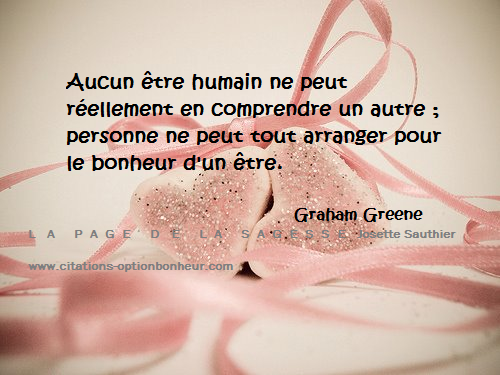 La Page de la Sagesse : Citation sur la compassion. Graham Greene
