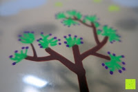 Baum: Kreidemarker – 10er Pack neonfarbene Markerstifte. Für Whiteboard, Kreidetafel, Fenster, Tafel, Bistros – 6mm Kugelspitze mit 8 Gramm Tinte