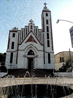 Fachada da Igreja Matriz de Marcelino Ramos