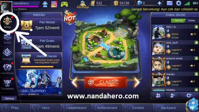 beli hero mobile legends murah