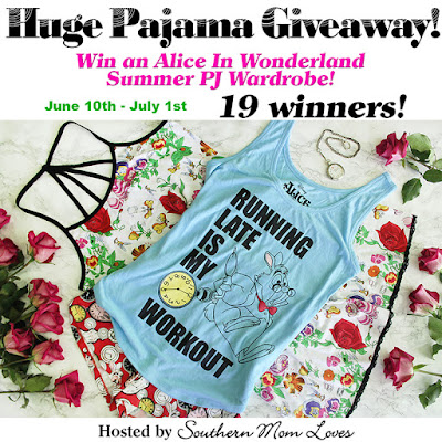 Enter the Alice In Wonderland PJ Wardrobe Giveaway. Ends 7/1.