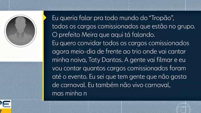 PALMAS PARA NOIVA: Prefeito obriga  comissionados assistir show da noiva cantora