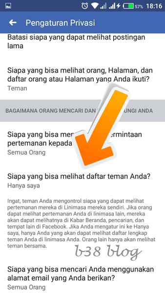 Cara Menyembunyikan Daftar Teman Facebook di Android