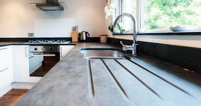 Schiefer Arbeitsplatte Küche