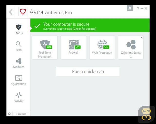 Avira Antivirus Pro 2018_2