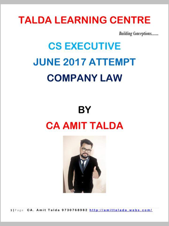 Notes company pdf law