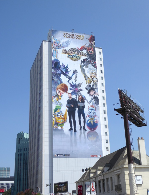 Giant Summoners War 2016 game billboard