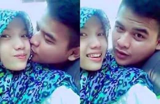 Foto Viral Cewek Berjilbab Ciuman Dengan Cowoknya