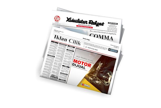 pasang iklan motor dijual di koran Kedaulatan rakyat jogja