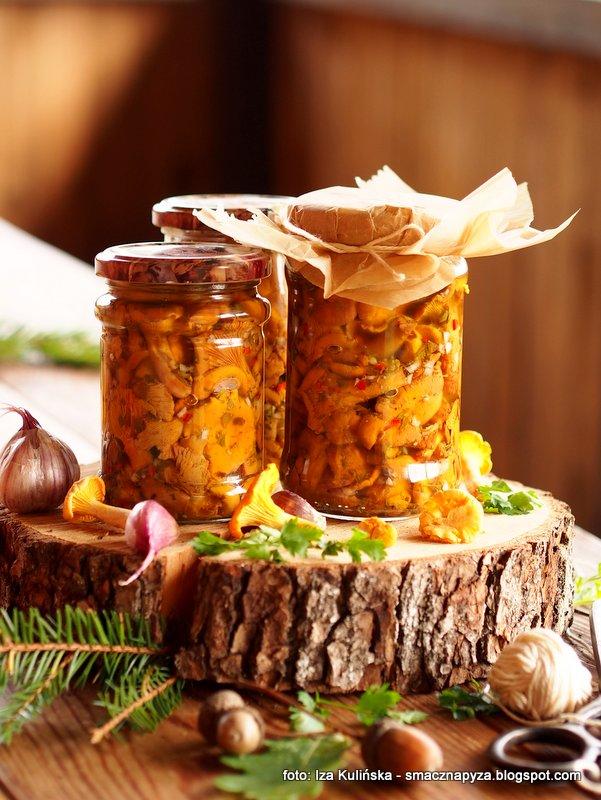 kurki marynowane w oleju, sloiki, przetwory, grzyby na zime, pieprznik jadalny, zloto lasu, kureczki, grzyby na sposob wloski
