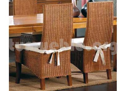 silla comedor en rattan natural j146