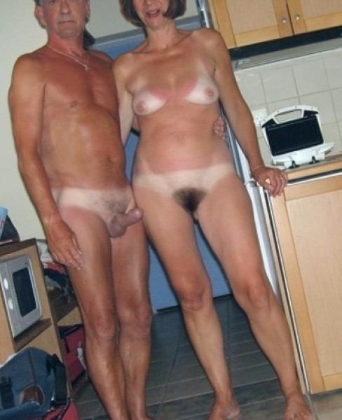 nude mature couple