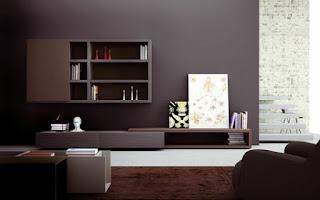 Sala minimalista marrón