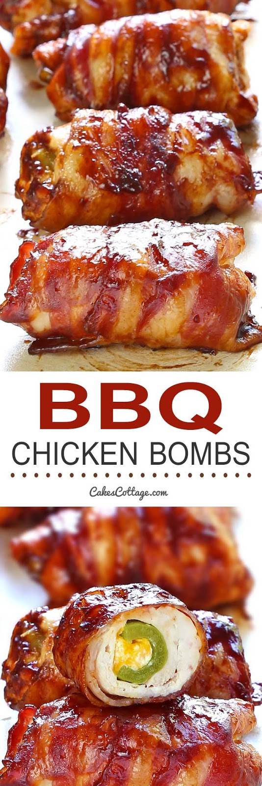 Bacon BBQ Chicken Bombs