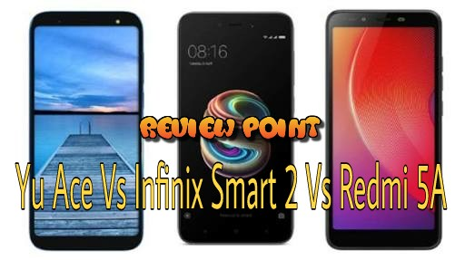 Yu Ace Vs Infinix Smart 2 Vs Redmi 5A