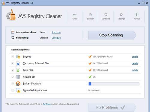 تحميل برنامج إصلاح أخطاء النظام AVS Registry Cleaner