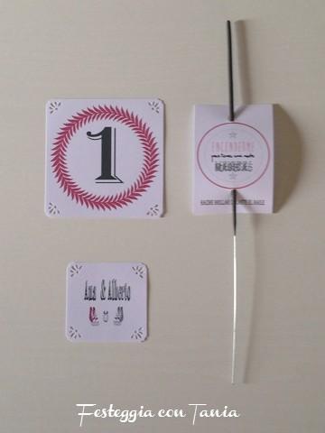 Candele magiche matrimonio,segnatavoli,etichette