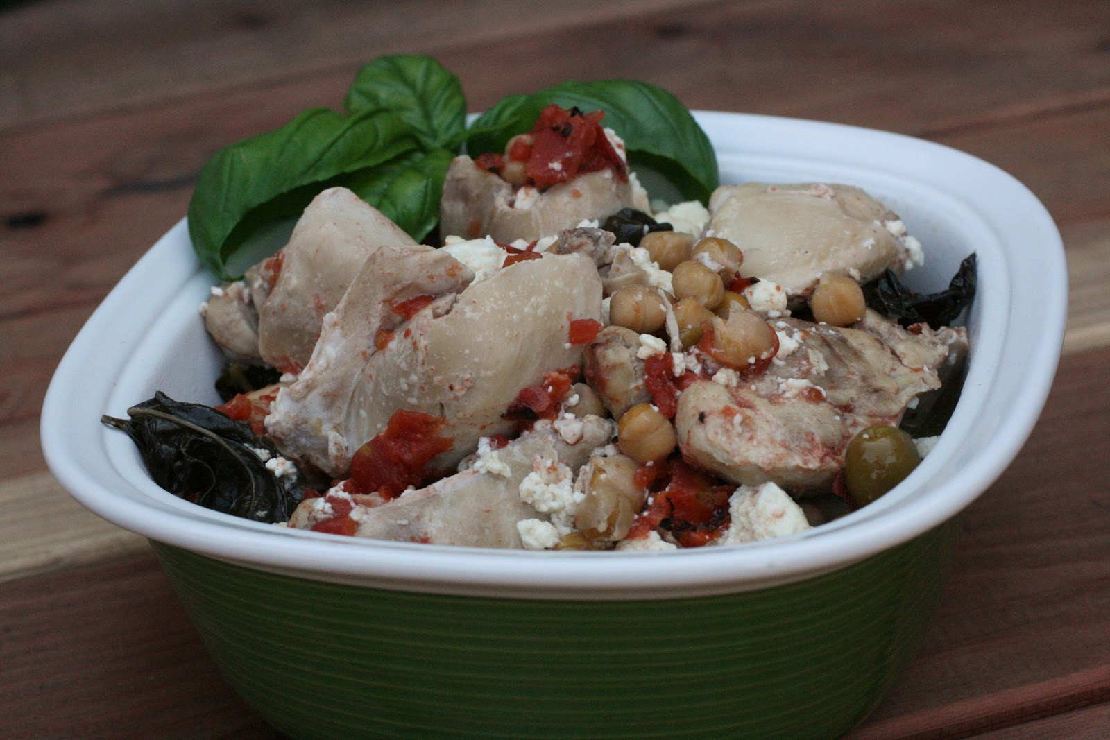 Basil chicken with feta slow cooker recipe a year of slow cooking im forumfinder Images