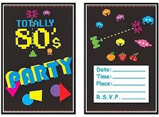 Totally 80's Party Invitations