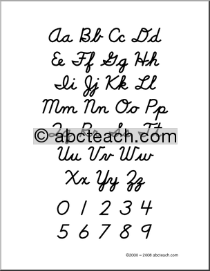 Number Names Worksheets the alphabet letters in cursive : Cursive Handwriting Letters | Hand Writing