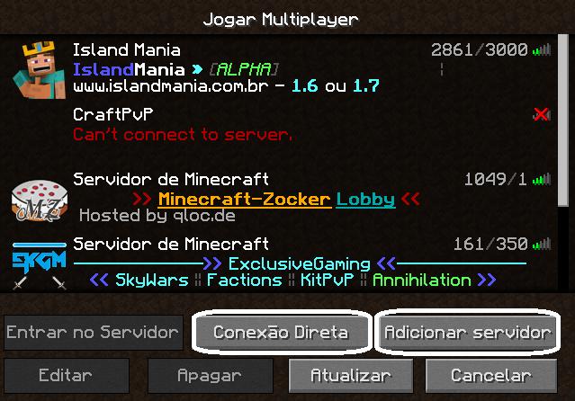 Saber ip server minecraft