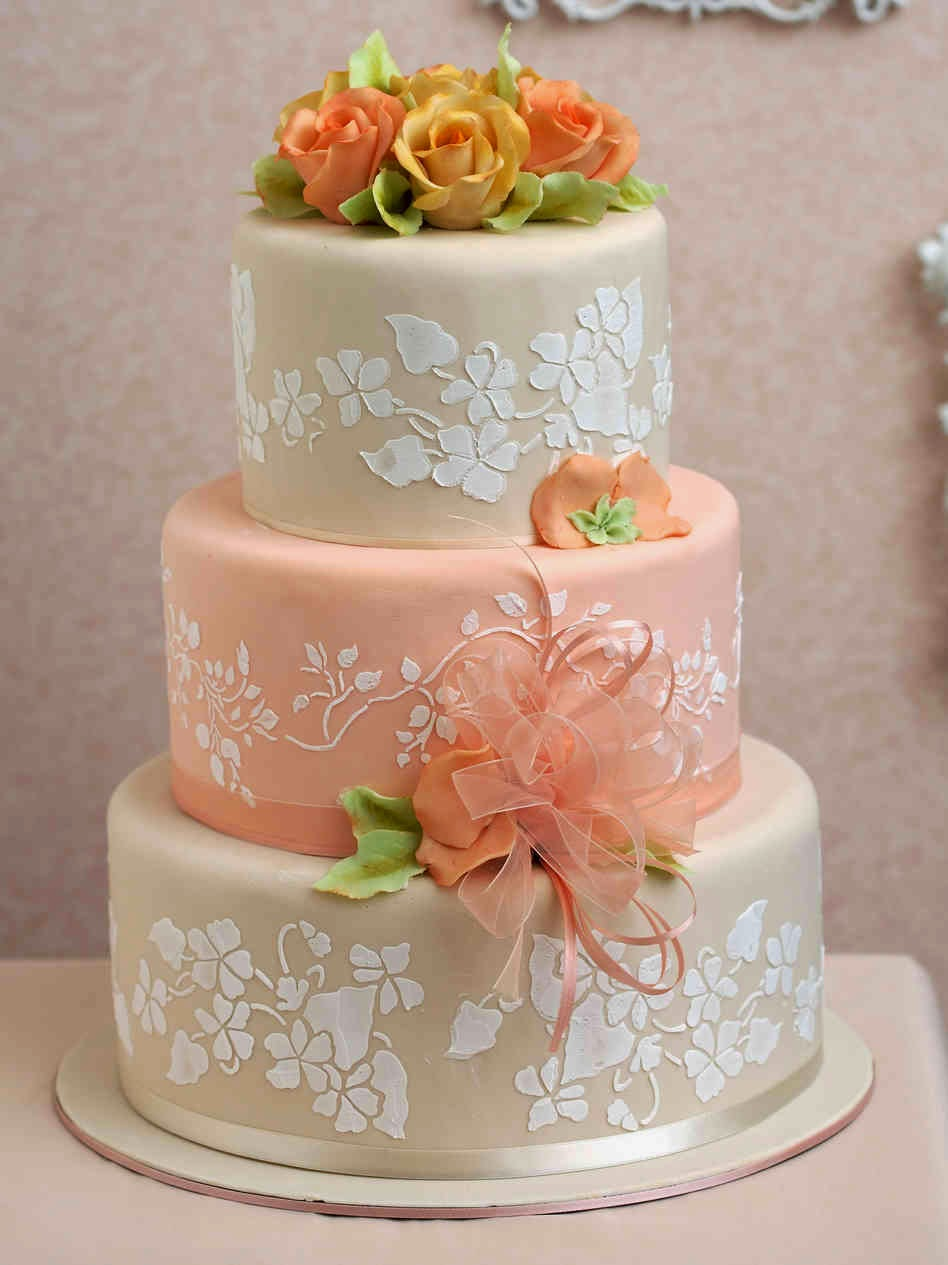 peach wedding cake gallery confession of a beautyholic inspiracje slubne tort 18146