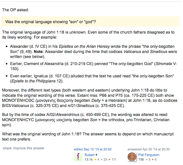 http://hermeneutics.stackexchange.com/questions/6/should-john-118-read-the-only-begotten-god