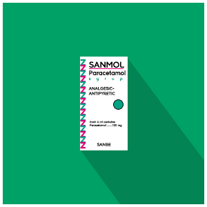 Sanmol : Paracetamol Syrup, Analgesic - Antipyretic (Alcohol Free)