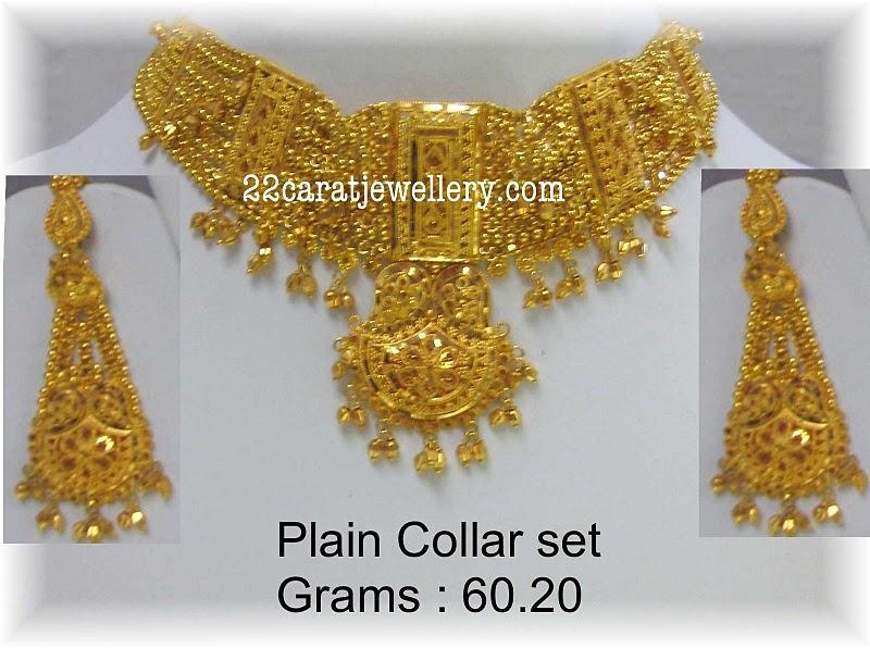 Plain Gold Bridal Necklace 60 Grams Jewellery Designs