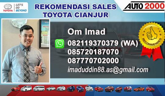 Rekomendasi Sales Toyota Cianjur 2018