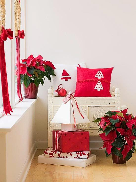 sala navidad blanco rojo