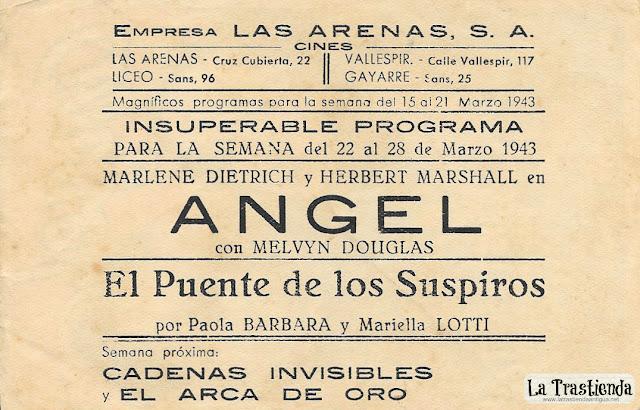 Angel - Programa de Cine - Marlene Dietrich - Herbert Marshall - Melvyn Douglas