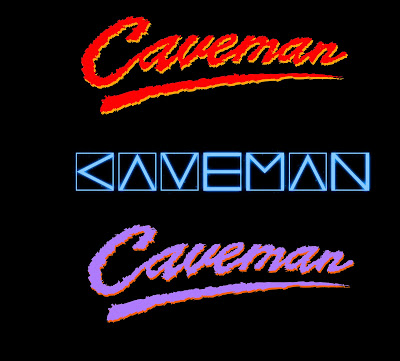 The Days Of Thunder Style Lettering Ended Up Succumbing To Use Pre Existing Angular Logo Mark That Caveman Has Used For A Couple Years