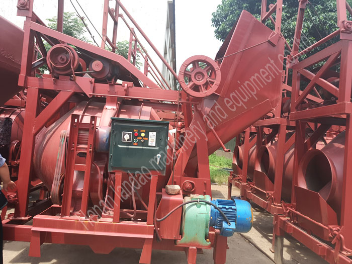 Save Manpower Small Self Loading Drum Portable Concrete Mixer with