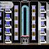 مخطط مشروع عمارة سكنية (R+4) اوتوكاد 4 dwg