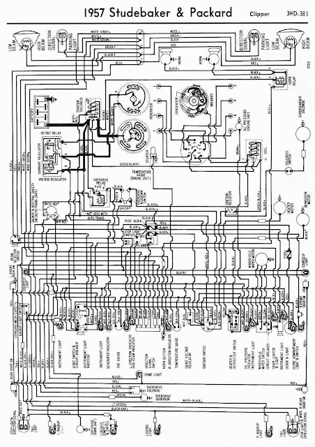 Wiring Diagrams 911: 1957 Studebaker and Packard Clipper