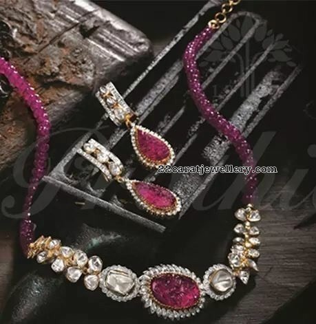 Ruby Beads Sets by Pratibha Jewellery