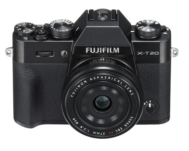 La Fuji X-T20 nera con il 27mm