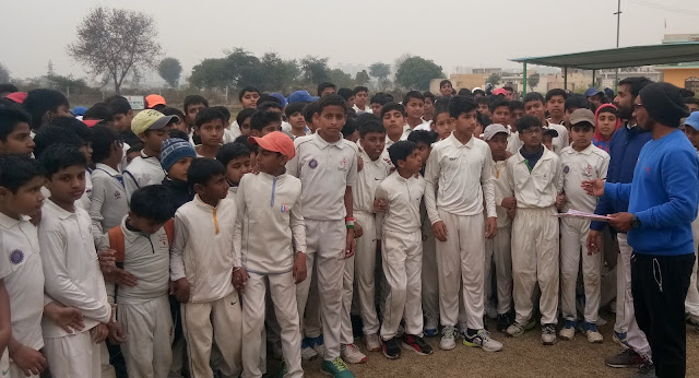 325 players took part in the Under-14 Cricket Team Trial of the District Cricket Association