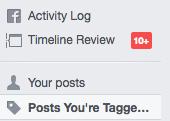 Remove Facebook tag