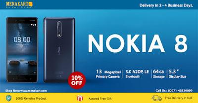 Nokia 8, 64GB, Dual Sim, Blue