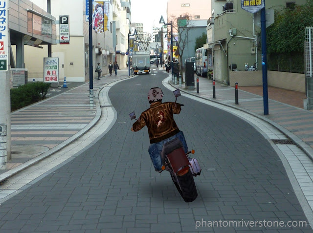 Ryo spotted joy-riding through Dobuita