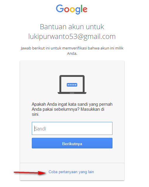 reset password gmail yang lupa
