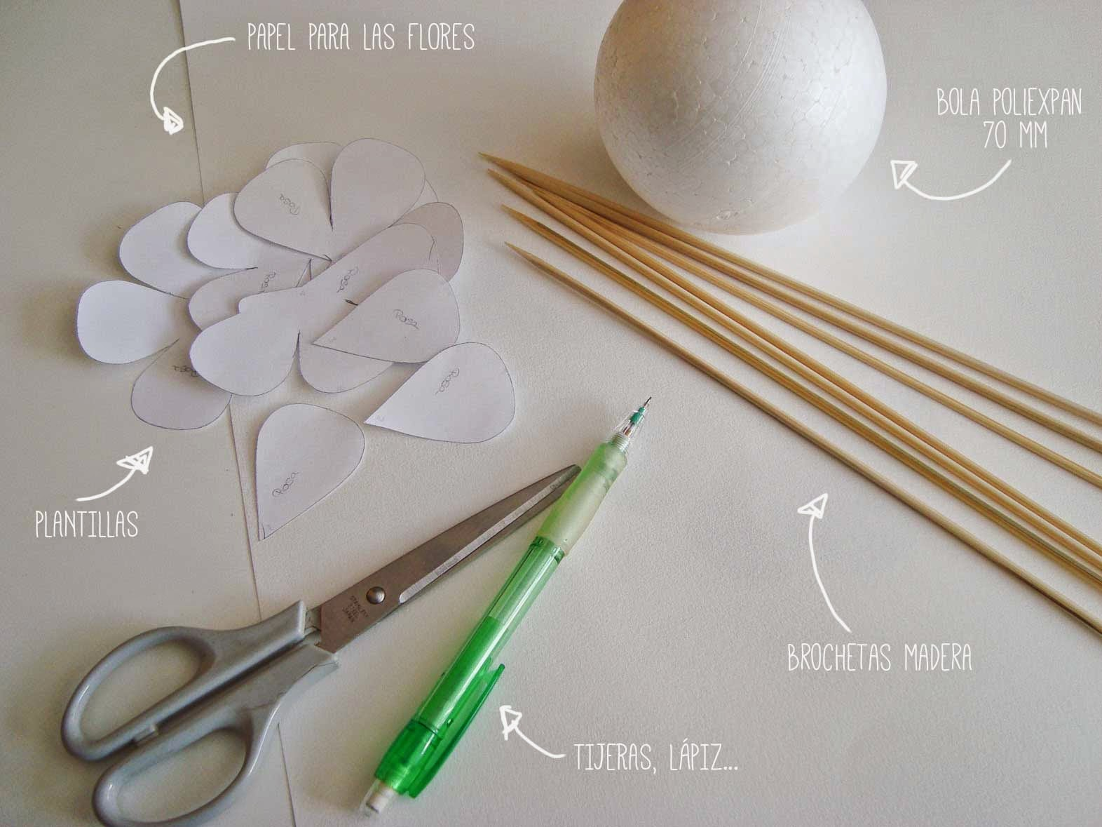 DIY Wedding Bouquet_materiales
