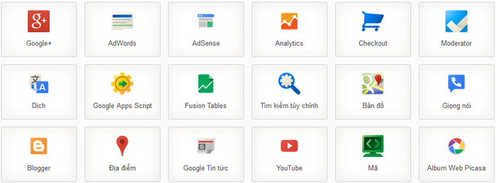 Dịch vụ Google Apps