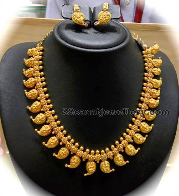 Pachi Mango Set and Gold Necklace
