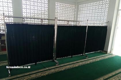 Hijab Masjid atau Penyekat Masjid Pesanan Bpk Yunus Mushalla Al Ismati Rahman Margonda Depok