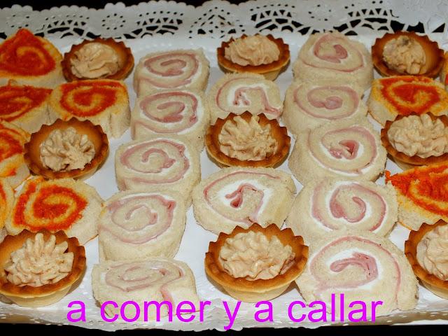 A comer y a callar aperitivos y canapes para navidad 2012 for Canapes recetas faciles y economicas