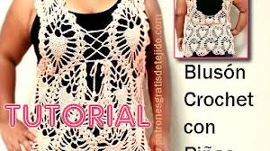 Blusón Crochet con Piñas Talle XL / Tutorial